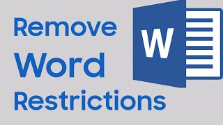 How to unlock a word document for editing without password? [Remove restrictions]