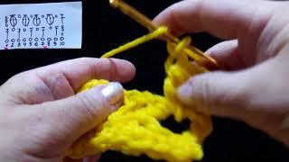 24 Урок. Вяжем пышный столбик под дугу. Техника быстого вязания. Крючок для начинающих.