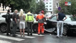 preview picture of video 'Levice - Dopravná nehoda na Ul. Československej armády'