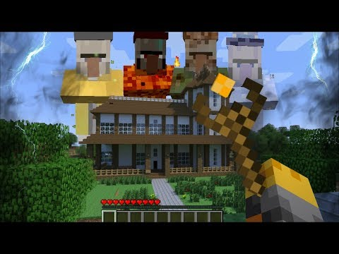 GIANT WITCHES APPEAR IN MY HOUSE IN MINECRAFT !! Minecraft Mods