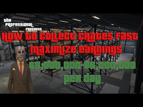 GTA How I Collect Crates Fast, Earn ($5,000,000-$6,000,000 A Day) CEO, MC Money Guide