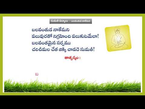 Teta Telugu - Sumati Shataka Poem with meaning - Lavugalavaani kantenu -  tetatelugu04