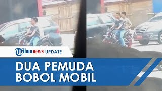 Viral Video Dua Pemuda yang Membobol Kaca Mobil di Pinggir Jalan Ramai