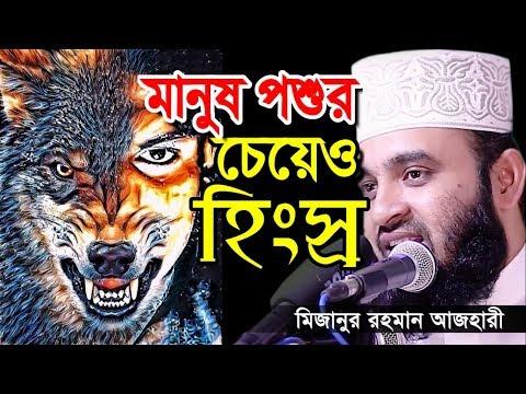মানুষ পশুর চেয়েও হিংস্র কেন । মিজানুর রহমান আজহারী । bangla waz 2019 mizanur rahman azhari
