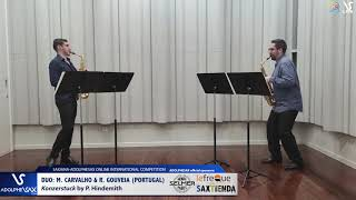 DUO M. CARVALHO & R. GOUVEIA play Konzerstuck by P. Hindemith #adolphesax