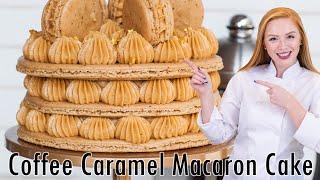 Caramel Coffee Macaron Cake