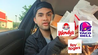 ME EATING WENDY'S, TACO BELL, AND ROY ROGERS MUKBANG - Video Youtube