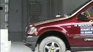 Crash Test 1999-2005 Mercedes Benz ML 320 Class (Frontal Offset) IIHS
