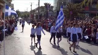 Ραφήνα 28 Οκτωβρίου 2017: Η μαθητική παρέλαση