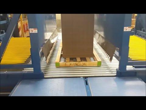 ¡Vea El Insertador automático de Tarima tipo Dual de WSA en acción!