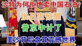 沙特为何拒绝卖中国石油?张召忠惊醒:普京中计了!美沙背后盘算震撼世界