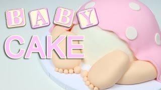 Cutest Baby Shower BABY BUM CAKE!