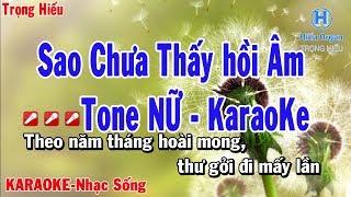 karaoke Sao Chưa Thấy Hồi Âm Tone Nữ | như Quỳnh | nhạc sống | sao chưa thấy hồi âm karaoke beat nữ