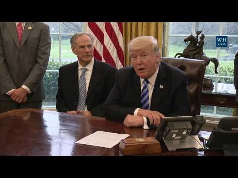 President Trump Meets with Charter Communications CEO Thomas Rutledge and Texas Governor Greg Abbott