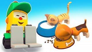 Мультфильмы для малышей Магазин Грузика. Чем покормить щенка и котенка?