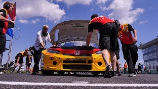 WTCR Race 1 Slovakiaring highlights with Tom Coronel's best result of the 2018 honda civic type r