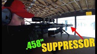Big bore AR15 gets a silencer! - Bowers VERS 458