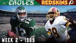 Cunningham 's Capitol City Comeback! (Eagles vs. Redskins, 1989) | NFL Vault Highlights