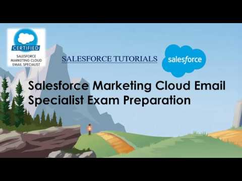 Salesforce Marketing Cloud Email Specialist Exam Preparation ...