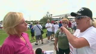 Trump supporter verbally attacks CNN reporter