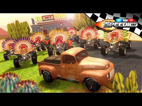 Ten Little Indians | Speedies Car Cartoons | Nursery Rhymes for Kids