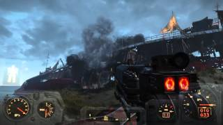 Annihilating Raider Base with Artillery. Fallout 4