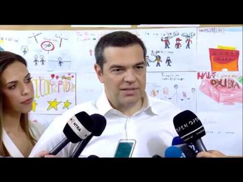 Δήλωση του Πρωθυπουργού Αλέξη Τσίπρα μετά την άσκηση του εκλογικού του δικαιώματος
