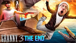 GRANNY Sings Me Song b4 Going 2 Heaven! THE END! (FGTeeV vs Fake GRANNY 3 Pirates)