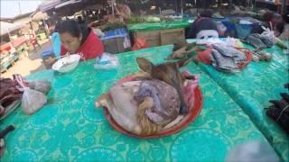อาหารป่าที่ตลาดเมืองไซ แขวงอุดมไช ประเทศลาว Oudomxay