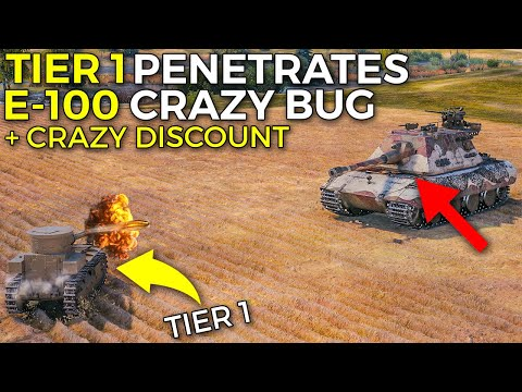 E-100 Penned By TIER 1 ⛔ SAVE MONEY - Discount Coming! | World of Tanks 10th Birthday Update 1.10
