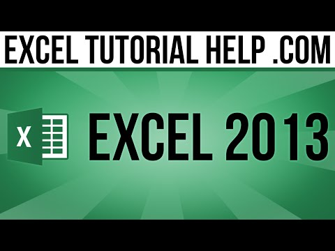 Excel 2013 Tutorial MOS Certification Practice 1.4a - YouTube