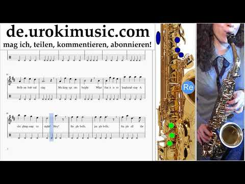 Saxophonunterricht (Alt) Jingle Bells Noten Lernen um-b995