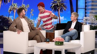 David Beckham explained to Ellen how his kids were the reason he ended up at Justin Bieber's house on Halloween, and the pop star just happened to be waiting in the box to scare his friend! Plus, the soccer icon talked about how he can't say no to his 8-year-old daughter Harper, and what he thinks about his wife Victoria calling him out on his lack of dance skills.  #DavidBeckham #JustinBieber #Scare