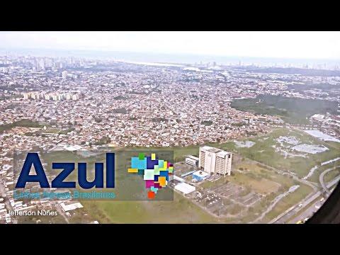 Pouso em Recife - ATR 72 - (Azul) - Aeroporto os Guararapes