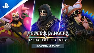 PlayStation Power Rangers: Battle For The Grid - Season 4 Pass Launch Trailer   PS4 anuncio