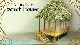 Miniature Beach house - Dollhouse Tutorial