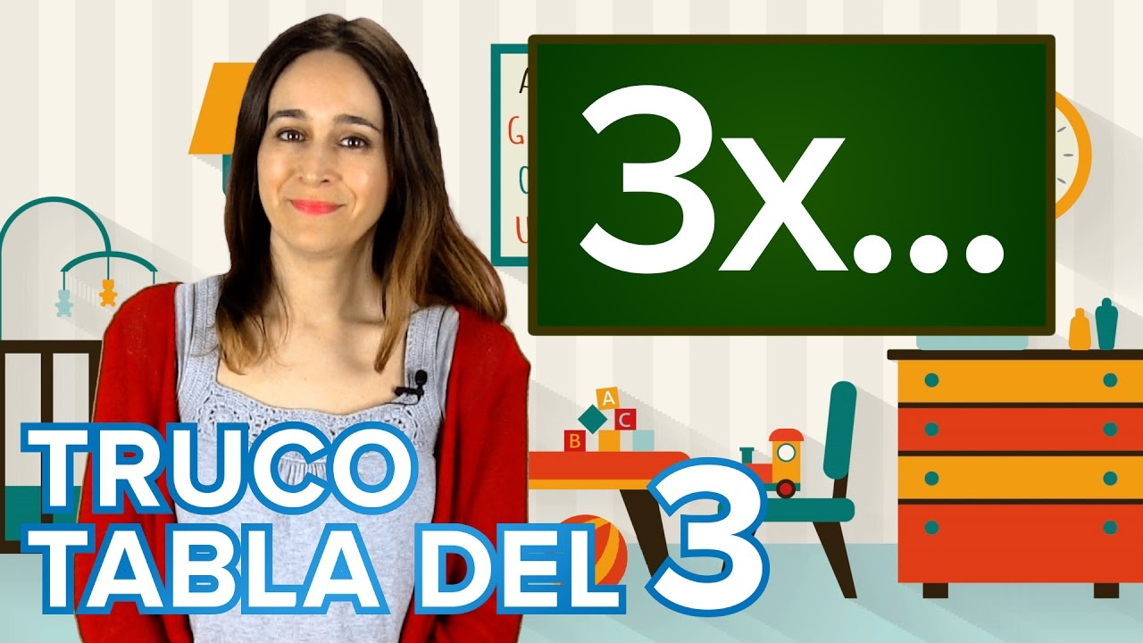 Truco de la tabla de multiplicar del 3 | Matemáticas para niños