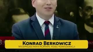 Konrad Berkowicz wyjaśnia propagandzistę PiS Andruszkiewicza.