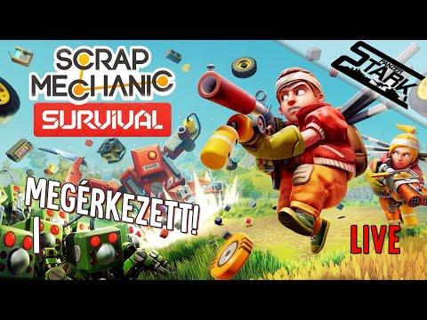 Scrap Mechanic Survival - 1.Rész (Kezdődhet a csapatos túlélés) - Stark LIVE