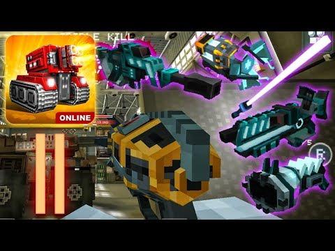 Blocky Cars Online - Plasma Weapons & Space Sword,Electro-Gun (Gameplay Part 11)