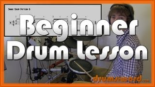 ★ Snare Drum Patterns (Part 1) ★ Beginner Drum Lesson   Learn How To Play Drums