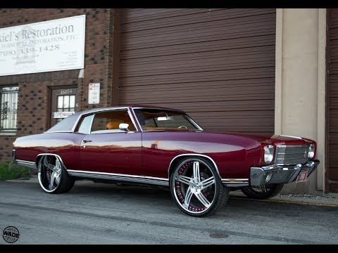 """Chicago Whips : 1970 Chevrolet Monte Carlo on 24"""" Staggered Wheels"""