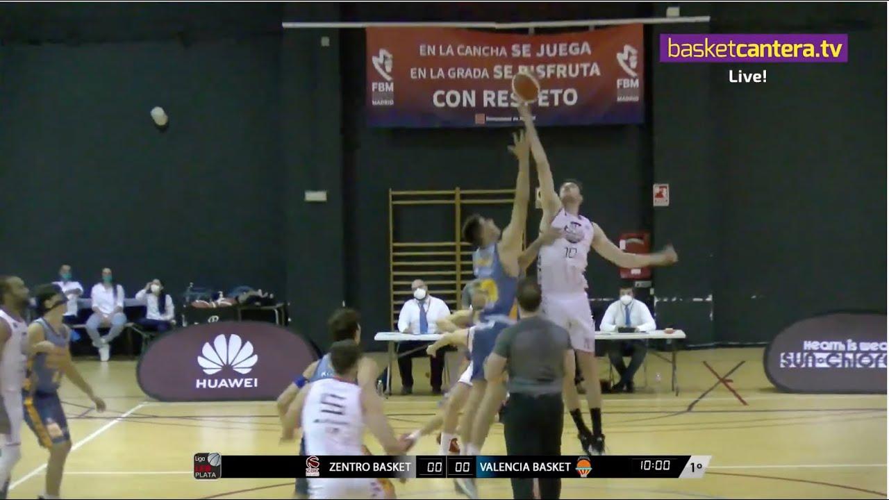 CB ZENTRO BASKET vs VALENCIA BASKET.- Liga LEB Plata (16/10/21) #BasketCantera.TV