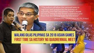 Gilas Pilipinas Pulls Out of 2018 Asian Games Men's Basketball Wars