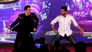 EPIC MOMENT Salman Khan & Prabhu Deva Dance Together @ Munna Badnaam Hua