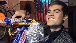 Chocolate Bar Eating ASMR • Crinkling Plastic Candy Wrappers