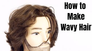How To Make Straight Hair Wavy - TheSalonGuy