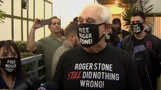 video: Roger Stone thanks Donald Trump for 'saving his life' after prison sentence commuted