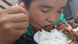苗大姐做辣子鸡,一口鸡肉一口花椒,米饭呼刷刷吃