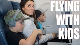 FLYING ON AN AIRPLANE FOR FOUR HOURS WITH FIVE KIDS TO DISNEY WORLD FOR THE FIRST TIME EVER!